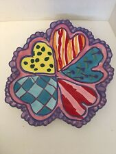 Fitz & Floyd Children's Art Project Hunter Age 8 Perfect Valentine Plate Euc
