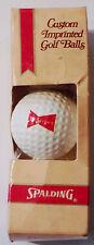 Vintage Spalding Budweiser Golf Balls Set of 3 Custom Imprinted
