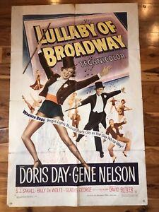 Original 1-Sheet Poster 27x41: Lullaby of Broadway (1951) Doris Day, Jene Nelson