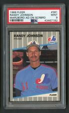 1989 Fleer Randy Johnson Rookie Error Marlboro Ad Visible PSA 9 Mint SP