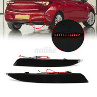 2x Rear Bumper Reflector LED Brake Tail Light For OPEL Vauxhall Astra J