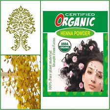 USDA Certified Organic Bahar Henna Powder hair dye. 100g box. Golden Brown Color