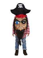 Jumbo Face Pirate Caribbean Fancy Dress Costume Child Kids Boys Girls Ages 4-12