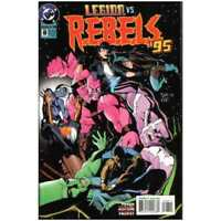 R.E.B.E.L.S. (1994 series) #8 in Near Mint + condition. DC comics [*q9]