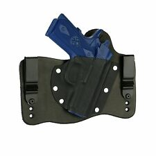 "FoxX Leather & Kydex IWB Hybrid Holster Springfield EMP 3"" 1911 9/40 Right Black"