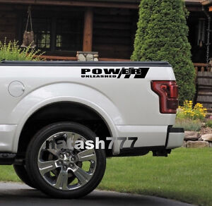 POWER UNLEASHED FORD Truck F150 F250 F350 Dually XLT XL 4x4 Decal sticker BLK