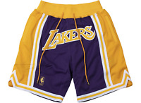 """JUST DON x MITCHELL & NESS """"LOS ANGELES LAKERS"""" 1996-97 ROAD SHORTS SIZE LARGE"""