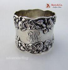 Pond Lily Napkin Ring Gorham B208 Sterling Silver 1890 JCW