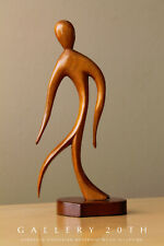 AWESOME! MID CENTURY WOOD HAGENAUER SCULPTURE! VTG CURVACEOUS ART DECO 50'S 60'S