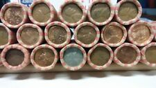 Wheat Pennies/Cents, 8LBS/POUNDS, 24 ROLLS,1200 cents, GOOD MIX some early dates