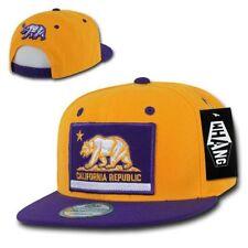 California Republic Bear Snap Back Hat Purple Yellow Los Angeles Lakers Colors