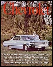1964 Chevrolet Chevy PRESTIGE Brochure Impala Bel Aire Biscayne ORIGINAL HUGE 64