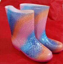 Disney Shake It Up Rubber Material Rain Boots-Rainbow Pink Size 6 Youth/Womens