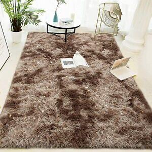 Fluffy Area Rug Bedroom Carpet Shaggy Living Room Rug Anti Slip 120 x 200 cm NEW