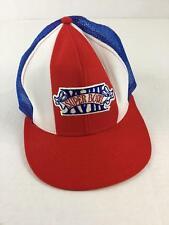 Vintage Superbowl XVIII Hat Red White Blue Mesh Back Adjustable Snapback Large