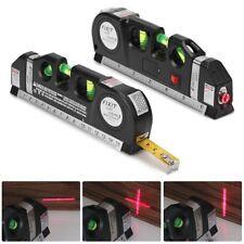 3 in 1 Laser Level 8FT Aligner Horizon Vertical Cross Line Measure Tape Ruler AU