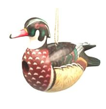 Songbird Essentials Albesia Wood Hand-carved Wood Duck Bird House Se3880056