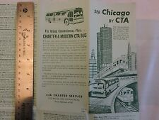 Rare 1963 Trolley Subway Bus Chicago Surface Lines Brochure Timetable