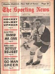 The Sporting News Newspaper Feb 3, 1968 Best in Boston Phil Esposito