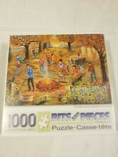Bits And Pieces 1000 Piece Jigsaw Puzzle Neighborhood Autumn Cleanup Sealed New