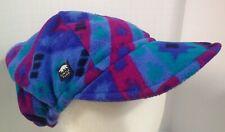New listing Vail Ski Hat Vintage Turtle Fur Fleece Psychadelic Rare Vhtf Floppy Made Usa !