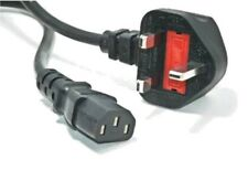 NEW 1.8M MAINS COMPUTER POWER CABLE, PC MONITOR KETTLE LCD TV LEAD,UK 3 PIN