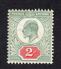 KEDVII 1902-10 sg 227    2d grey green & carmine MM with gum.