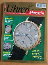 Uhren-Magazin Nr. 7/8 1996 - Uhren Zeitschrift, Uhrenheft, Magazin