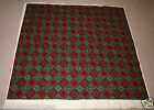 """1960 Handmade Vintage Cross-Stitch Tapestry Wool 60""""/1.5m Square Aztec Red/Green"""