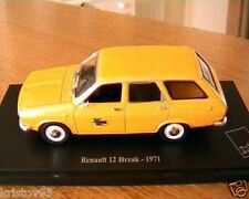 RENAULT 12 BREAK 1971 MUSEE LA POSTE PTT NOREV 1/43 VITREE EDITIONS ATLAS YELLOW