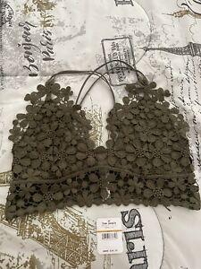 NWT Free People Miss Dazie Bralette in Serene Olive Size S  MSRP $38