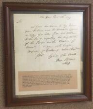 1779 Revolutionary War Ben Stoddert Autograph First Secretary of Navy Letter