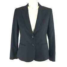 Theory Nichelle Black Blazer Jacket Womens Size 12 Two Button Fully Lined