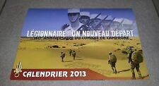 CALENDRIER 2013 ARMEE MILITAIRE KEPI BLANC LEGION ETRANGERE LEGIONNAIRE CAMERONE