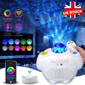 USB Galaxy Star Night Lamp LED Starry Sky Projector Light Ocean Wave Remote UK