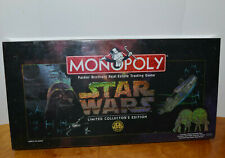 STAR WARS MONOPOLY BOARD GAME NEW SEALED COLLECTOR'S EDITION PEWTER MINI FIGURES