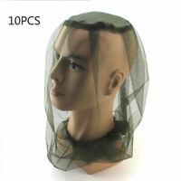 10Pcs Lightweight Mosquito Head Nylon Mozzie Net Hiking Protection Mesh Hat 70D