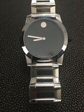 Movado Vizio Carbon Fiber Dial Mens Watch  Swiss Made Tungsten Bezel Rare Find