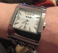 Butler and Wilson tono argento catena trama grossa Simon's Watch Nuovo