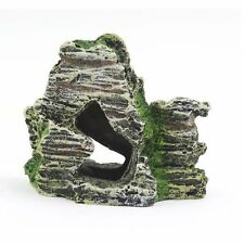 Aquarium Mountain Coral Reef Rock Cave Stone Moss Fish Tank Ornament Y416B