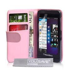 Blackberry Z10 Rosa bebé de Cuero PU de alta calidad teléfono funda protectora del Reino Unido