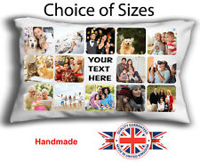 PERSONALISED CUSHION OBLONG COLLAGE, RECTANGLE PHOTO CUSHION COVER, BOUDOIR