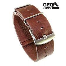 GEO-Straps Vintage Durchzug-Uhrenband Rindleder 22 mm Nato-Uhrband Militäruhr