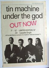 david bowie Tin Machine 1989 Poster Ad Under The God