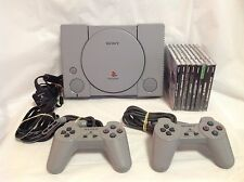 Sony Playstation PS1 Console Bundle - Controllers, Wires & 10 Games - 5501 - 3K