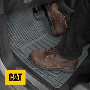 CAT® 3pc Heavy Duty Odorless Rubber Floor Mats Trim Fit for Car Truck SUV VAN
