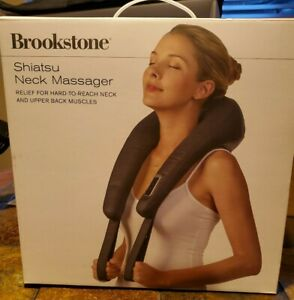 Brookstone Shiatsu Neck & Back Massage Deep-Kneading Massage