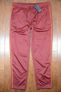 Armani Exchange A|X $120 Mens Burgundy Polyester Casual Track Pants Sweatpants L