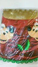 Disney Park Exclusive Mickey & Minnie Christmas Tree Skirt /NEW