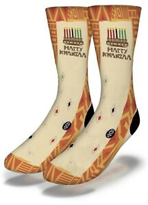 #46 Happy Kwanzaa Savvy Socks Brand New With Tags Straight From Production Line